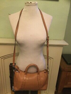 Modalu Tan Leather Shoulder Bag With Detachable Strap  • 10£