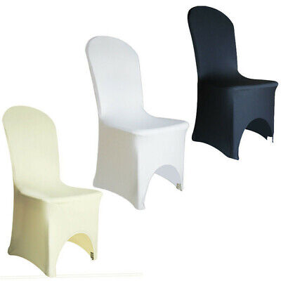 £1.97 • Buy 50/100pcs White Chair Covers Spandex Lycra Chair Cover For Wedding Party Banquet