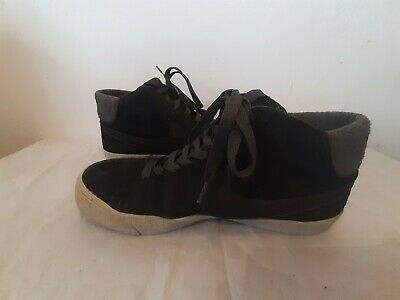Nike Mens Blazer Mid LR - Size 8 All Black Suede  High Top Trainers • 29.99£