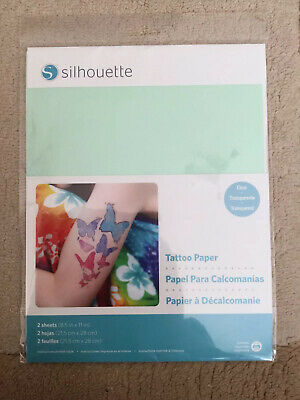 Silhouette Temp Tattoo Paper, 8.5x11 Inches, Brand New And Sealed • 4.99£