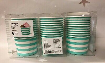 30 X Disposable Paper Desert Ice Cream Cups Tubs Jelly Sweet Treat Party Caterin • 7.99£
