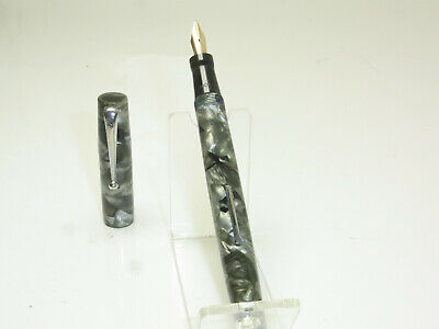 Vintage MABIE TODD BLACKBIRD 5245 Fountain Pen Flexy 14ct B Nib SERVICED • 95.07£