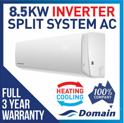AU1815 • Buy New Domain Premium 8.5kw Inverter Reverse Cycle Split System Air Conditioner Ac