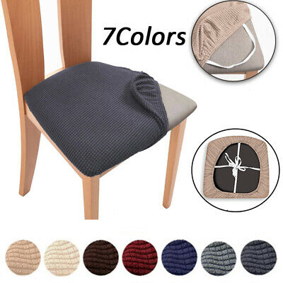 UK Elastic Dining Chair Protector Seat Covers Home Non-slip Seat Slipcovers • 4.44£