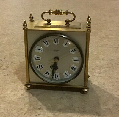 Bentima Quartz Carriage / Mantle Clock. Working Order. • 3.20£