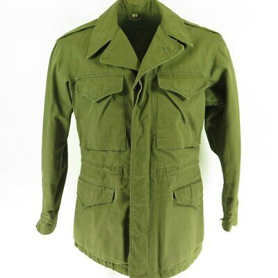 $172.46 • Buy Vintage 40s WWII M-43 Field Jacket 34R Green Stenciled US Army Military Pockets