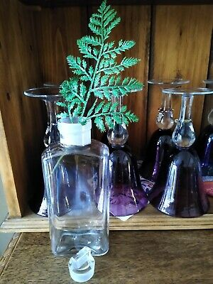 Vintage Glass Apothecary/Chemist Bottle/Vase With Stopper. • 6.50£