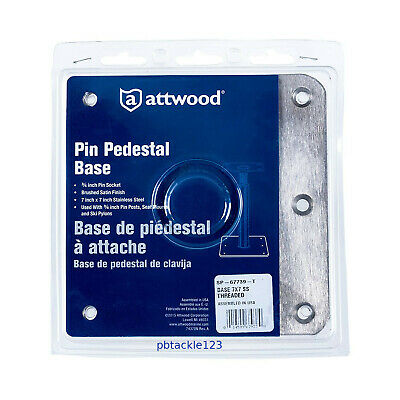$ CDN52.35 • Buy Swivl-Eze Attwood SP-67739-T 7x7 Pin Pedestal Boat Base Plate Brushed Stainless