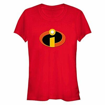 Disney Women's The Incredibles Logo Graphic T-Shirt, Red, L, Red, Size Large • 13.99£