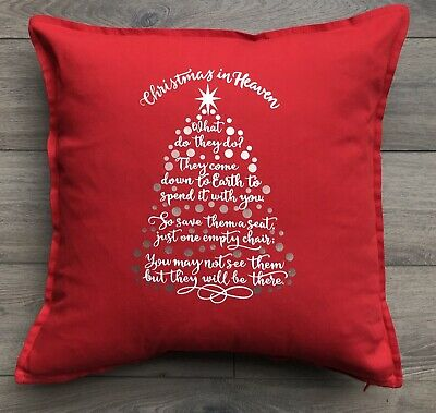 Christmas In Heaven Tree Chair Keepsake Tribute Large Cushion Various Colours • 20£