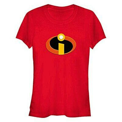 Disney Women's The Incredibles Logo Graphic T-Shirt, Red, XL, Red, Size X-Large • 13.99£