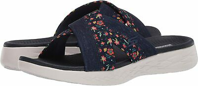 Skechers Women's Shoes 140038 Fabric Open Toe Casual Slide, Navy, Size 7.0 MRP2 • 24.99£