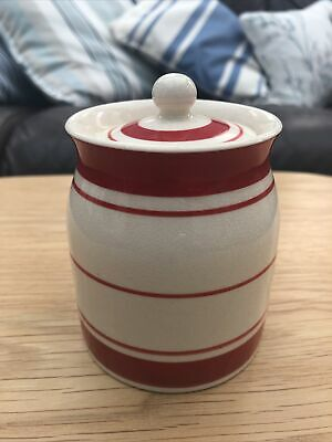 £11.99 • Buy Vintage Price Brothers Kitchenware Small Cream & Red Line Jar Canister England