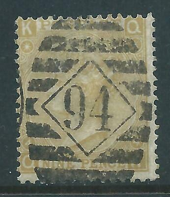 Queen Victoria Stamp SG111 9d Pale Straw Plate 4 R6290 • 2.80£