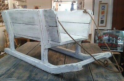 £180 • Buy Wooden Sleigh / Cart Sledge With Metal Runners - Shop Display