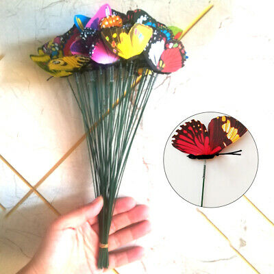 Artistic Garden Ornaments Butterfly On-Sticks Home Outdoor Patio Pot Decor • 7.66£