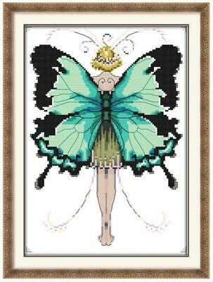 BUTTERFLY FAIRY 1 COUNTED CROSS STITCH KIT 14 COUNT AIDA FINISHED SIZE 26x33CM • 9.99£