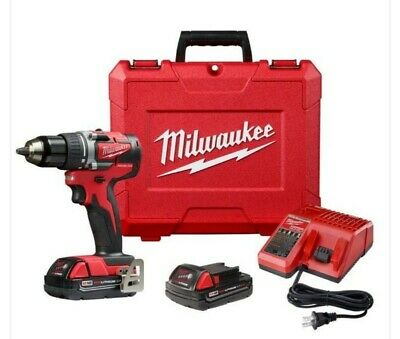 Milwaukee M18 2801-22CT 18-Volt 1/2-Inch Compact LED Brushless Drill Driver Kit • 153.74£