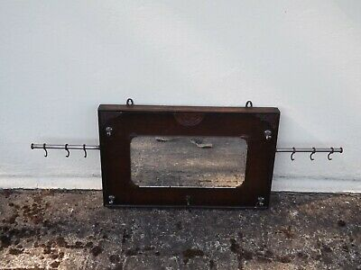 Great Western Railway ? Vintage Carriage Mirror Coat Hooks Rare • 115£