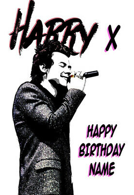 £2.99 • Buy New - For Fans Of Harry Styles Personalised Birthday Card !! (1)
