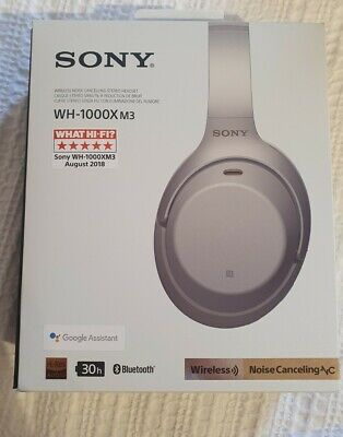 Sony WH-1000XM3 Wireless Over-the-Ear Headphones - Silver • 75£