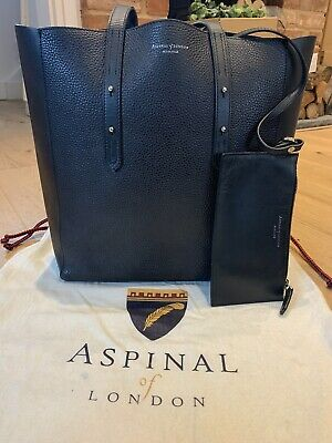 Aspinal Of London Essential A Pebble Leather Tote Bag Black RRP £295 • 140£