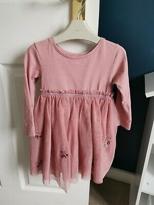 Girls NEXT Pink Party Tulle Dress Age 12-18 Months • 2.20£