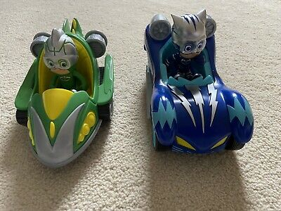 PJ Masks Cat Boy And Gecko Figures With Vehicles Toys • 8£