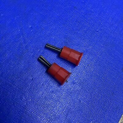 1 X CLIX RED WANDER PLUG - For TEST GEAR, VINTAGE AUDIO LEADS 3mm • 3.99£