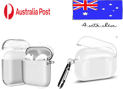AU7.95 • Buy Shockproof For Apple Airpods Pro Case Cover Clear Transparent  PC Holder Hard