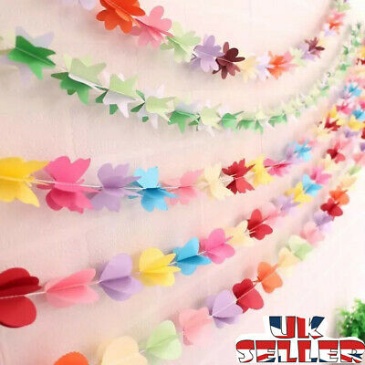£4.99 • Buy 3PACK Paper Flower Garland Buntings Wedding Party Birthday Banner Hanging Decor