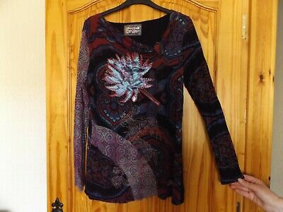 Desigual Long Sleeved Tunic Top Size XL  14 • 18£