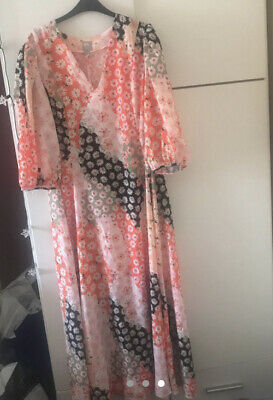 Asos Design Floral Midi Maxi Smock Dress Size 16 • 10£