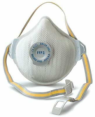 Moldex 3405 P3D Valved Mask - PVC Free - WASHABLE & REUSABLE /Shipping Worldwide • 24.99£