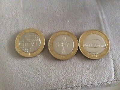 Rare Two £2 Pound Coin UK Coins London Underground, Slavery And Act Of Union • 6.99£