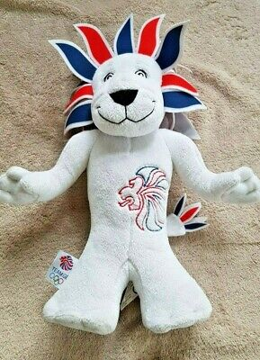 London Olympic Mascot Pride The Lion 2012 Soft Teddy 12  Tall Collectable VGC • 9.99£