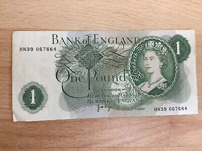 Old Bank Of England £1 One Pound Note  • 1.49£