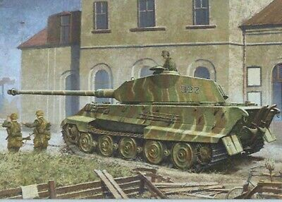 Dragon 1/35th King Tiger With Porsche Turret And Zimmeritt • 40£