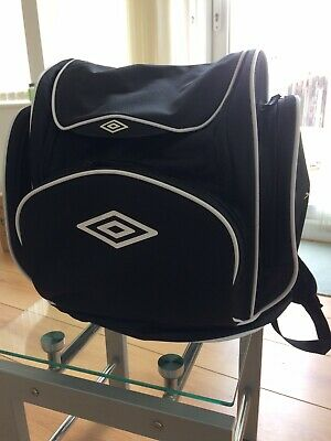 Black Umbro Rucksack With Side And Front Compartments. Used Excellent Condition. • 10£