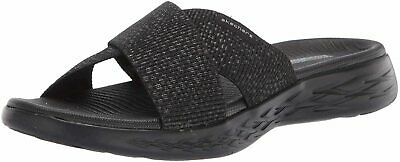 Skechers Women's Shoes 600 Glistening Fabric Open Toe Casual, Black, Size 9.0 • 18.99£