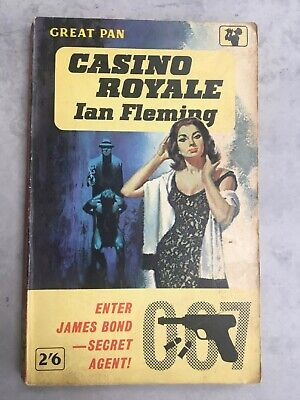 Vintage CASINO ROYALE Ian Fleming 1962 1st/10th Pan James Bond VERY GOOD • 15£