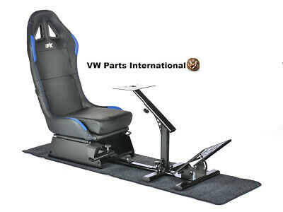 Car Gaming Racing Simulator Frame Chair Bucket Seat Frame Black Blue PS5 Xbox • 294£
