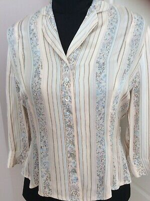 Alex & Co - Womens Blouse - Pearl Buttons - Size 12 - Lovely Feel • 3.99£