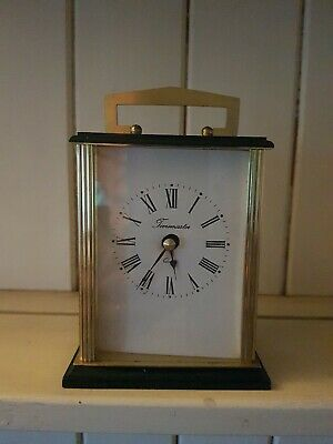 Vintage Timemaster Quartz Carriage/Mantle Clock Working • 7.50£
