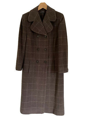 Ladies Alex & Co Winter Trench Coat - Brown - Size 12 - Excellent Condition • 25£