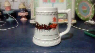 $ CDN13.14 • Buy Budweiser Champion Clydesdales Stein White 5 Inches Tall Great Shape