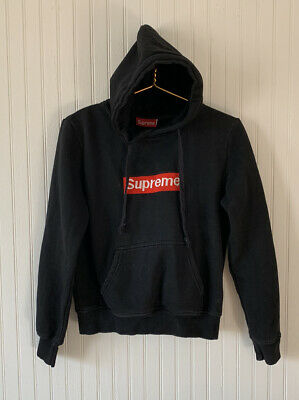 $ CDN107.60 • Buy Supreme - Black Hoodie - Red Logo - Womens - Size Medium -  Made In Canada