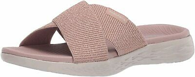 Skechers Women's Shoes 600 Glistening Fabric Open Toe, Rose Gold, Size 12.0 • 18.99£