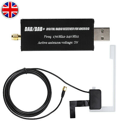 Car USB-DAB Radio Audio Receiver Signal Tuner For Android Navigation Antenna • 15.99£