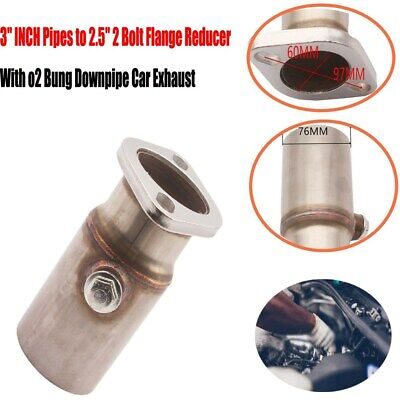 $43.45 • Buy 1 Piece 3  Pipes To 2.5  2 Bolt Flange Reducer With O2 Bung Downpipe Car Exhaust